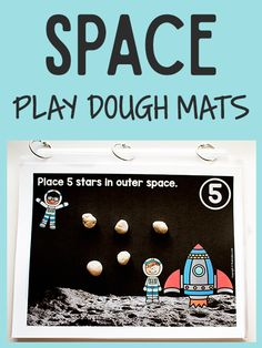 Space Play Dough Math Mats will help your aspiring young astronauts practice counting while playing with play dough. These will go great with a Space Theme.