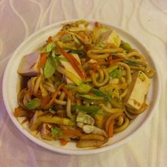 THE VEGAN OPTION - when you're in a restaurant and you ask the waiter what the best vegan option is you know the best response you can get is 'I'm vegan too and I eat this!' Tofu stir fry ladies and gentlemen. Tofu Stir Fry, Insta Me, Vegan Options, Japchae, Plant Based, Fries, Restaurant, Eat, Ethnic Recipes