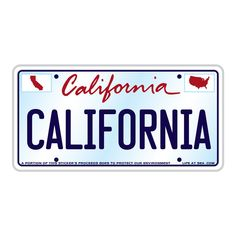 "This California license plate sticker features art from Tim Ward, a California native who shares his California pride through his work. A portion of the proceeds go to environmental protection. The sticker is one two-tone white and ice blue, with blue California text and border, and white background. Measures 5 3/4"" wide by 3"" tall. Stickers Cool, Surf Stickers, Preppy Stickers, Jeep Stickers, Bubble Stickers, Phone Stickers, Scrapbook Stickers, Wall Stickers, California License"