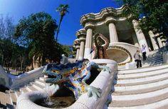Gaudi's Guell Park.  Barcelona, Spain.