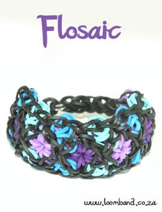Flosaic Loom Band bracelet Tutorial,http://loomband.co.za/flosaic-loom-band-bracelet-tutorial/