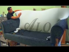 DIY: HOW TO REUPHOLSTER A SOFA. - ALOWORLD - YouTube