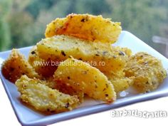 Cartofi crocanti la cuptor Macaroni And Cheese, Side Dishes, Easy Meals, Food And Drink, Vegan, Vegetables, Cooking, Ethnic Recipes, Kitchen