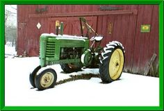 """Old John Deere Tractor ~ My daddy was a dealer for John Deere before I was born, and he always said they were the """"Cadillac"""" of tractors!"""