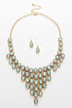 McKenzie Necklace in Ashen Opalescence | Women's Clothes, Casual Dresses, Fashion Earrings & Accessories | Emma Stine Limited