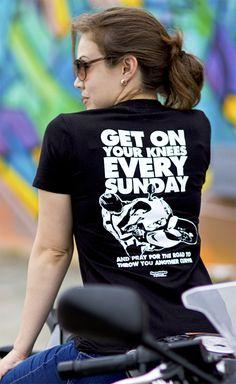 Makes me smile. Bike Quotes, Motorcycle Quotes, Biker Chick, Biker Girl, Chicks On Bikes, Bike Rider, Hot Bikes, Motocross, Yamaha