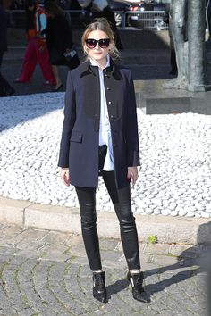 Olivia Palermo attends the Miu Miu show as part of the Paris Fashion Week Womenswear Spring/Summer 2017 on October 5 2016 in Paris France