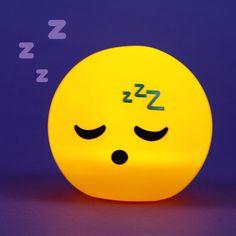 Lámpara de noche para mesita de iluminación LED con diseño cabeza de Emoji #emotive #durmiendo #lampara #decor