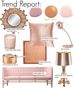 """Trend Report: Copper + Blush"" by kusja on Polyvore"