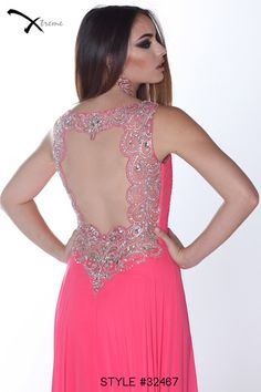Xtreme Prom 2014 Collection style #32467 #prom #dress #openback #beaded