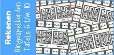 In deze blog vind je 5 bingo spelborden. Spelenderwijs oefenen de kinderen de tafels 6 t/m 10. Iedere tafel heet zijn eigen speelbord.