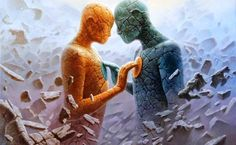 How to make a twin flame relationship work? Twin flames relationships are recklessly unpredictable. When the flames come to each other, their Relation D Aide, Twin Flame Relationship, Twin Souls, Soul Connection, Connection With Someone, In A Heartbeat, Reiki, Oil On Canvas, Healing