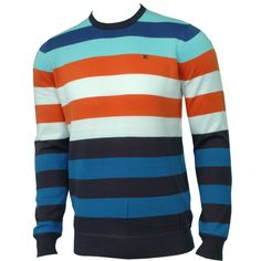 Hurley Mens Sweater Engine Blaze Orange
