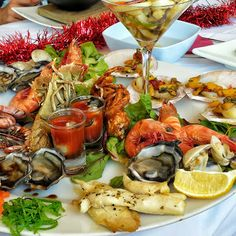 Seafood Platter - Xmas Table