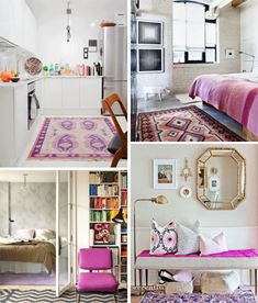 How To Decorate With Radiant Orchid, Pantone's Color of 2014 http://decor8blog.com/2014/01/21/how-to-decorate-radiant-orchid/
