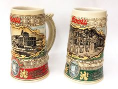1980's & 1990's Coors Collectible Steins by ArtMaxAntiques on Etsy