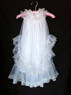Vintage Blessing Christening Newborn Tricot Dress by AriaBello - StyleSays