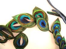 Fabulous Vintage Peacock Feather Hat Fascinator for Wedding Prom Ascot