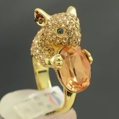 Brown Mouse Cocktail Ring
