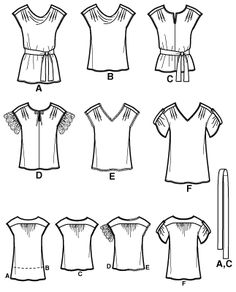 Interesting take on the Sutton Blouse pattern and an alternate pattern with more options