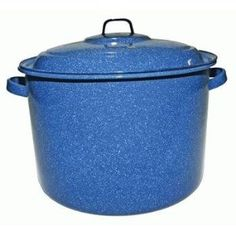 Camping Blue Enamel Stock Pot 21qt...for dishes, laundry, food, etc.
