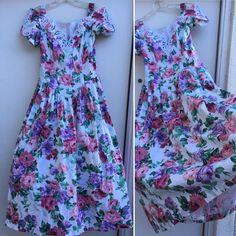 VTG Jessica McClintock Bridal Dress Floral Off Shoulder 80s Made In USA 9/10     eBay