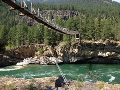 Swinging Bridge. Libby MT.