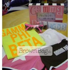 Gamma Phi Beta Bid Day Packages available in stores or online! Bid Day Gifts, Gamma Phi Beta, Brown Bags, Online Gifts, Sorority, Packaging, Paper Bags, Wrapping