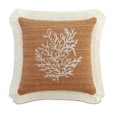Found it at Wayfair - Eastern Accents Caicos Polyester Embroidered Coral Decorative Pillow