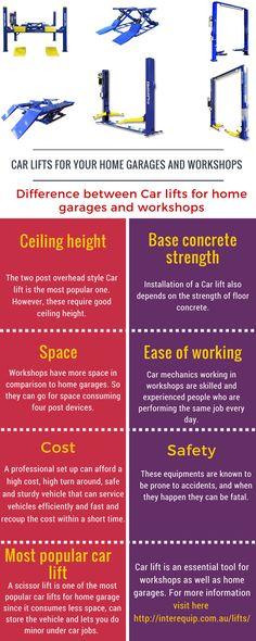 Get best deal in car lift, vehicle lift including 2 post car lifts, 4 post car h… Garage Car Lift, Barn Garage, Garage Tools, Man Cave Garage, Garage Shop, Garage House, Garage Plans, Garage Workshop, 2 Post Car Lift