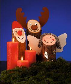 weihnachtsm nner aus holz weihnachten weihnachtsmann. Black Bedroom Furniture Sets. Home Design Ideas