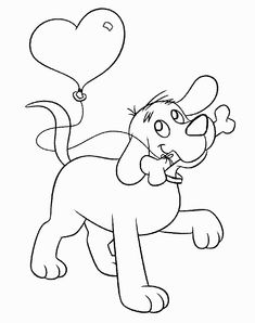 Animations A 2 Z - Coloring pages of Clifford the big red dog ...