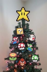 Find your favorite childhood memory and have Lighter Cases build a theme around it. | 15 Tree Toppers You Didn't Know You Needed This Holiday Season - wasn't sure if I should put this in geek or holidays! Haha
