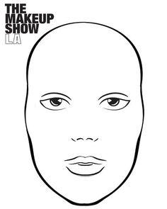 The Makeup Show Face ChART designed by Jennifer Wein