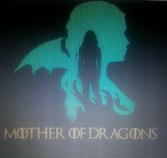 Game of thrones khaleesi mother of dragons vinyl decal wall car sticker stark #khalessi #gameofthrones #motherofdragons #dragons #decal