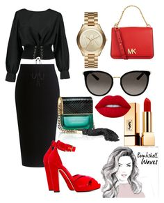 """""""Untitled #11"""" by xf2x91 on Polyvore featuring Theory, Boohoo, Michael Kors, Gucci, Alexander McQueen, Yves Saint Laurent, Lime Crime and Marc Jacobs"""