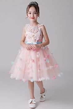 A-Line Sleeveless Flower Girl Dresses – Angrila Girls Dresses Online, Dresses Kids Girl, Prom Dresses Australia, Blush Flower Girl Dresses, Popular Dresses, Custom Dresses, Trends, Ladies Dress Design, Cheap Dresses