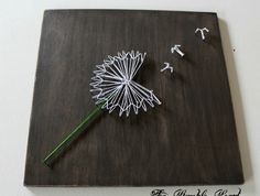 Make a Wish - Dandelion ...... Nail & String Art | Felt