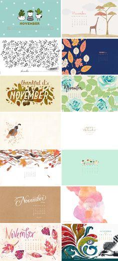 desktop wallpapers // November Wallpapers Round-up