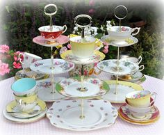 Beautiful Vintage China Tea Sets and Cake Stands to Buy at Cake Stand Heaven UK