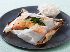 Wild Salmon with Watercress, Ginger and Lemon in Parchment Packets