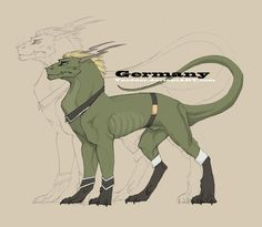 Germany as a dragon