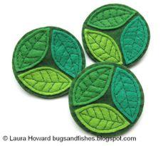 How To: Felt Spring Leaves Brooch
