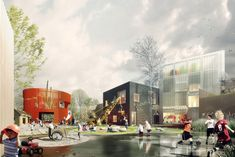 Prinsessegade Kindergarten and Youth Club Winning Proposal / COBE + NORD Architects,Courtesy of COBE, NORD Architects, PK3 and Grontmij