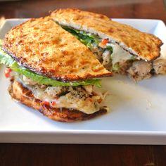 Mom, What's For Dinner?: Gluten Free, Grain Free Monterrey Jack Chicken Sandwich - I probably won't use their bread recipe.