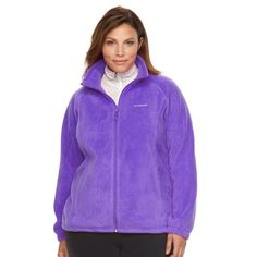 Plus Size Columbia Three Lakes Fleece Jacket, Women's, Size: 1XL, Purple Oth