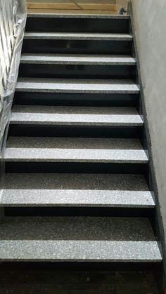 Escaliers en terrazzo realisation par sarl Teixeira