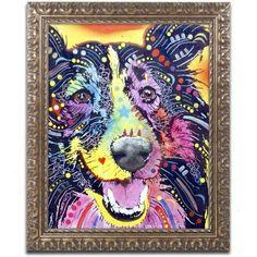 Trademark Fine Art Sheltie Canvas Art by Dean Russo, Gold Ornate Frame, Size: 11 x 14