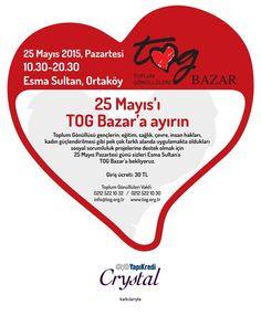 Lisya Beauty 25 Mayıs'ta TOG Bazar'da!!! TOG Bazar 2015 yaklaşıyor, hepinizi bekliyoruz. Bu yıl dokuzuncusu düzenlenen TOG Bazar, 25 Mayıs Pazartesi günü, Esma Sultan Yalısı'nda gerçekleşecek. TOG Bazar'ın giriş ücretlerinden elde edilecek bağış gelirleri, TOG Genç Kadın Fonu'na aktarılacak. 25 MAYIS 2015 / PAZARTESİ 10:30 - 20:30 Esma Sultan, Ortaköy #TOG #TogBazar #ToplumGönüllüleriVakfı #Lisyaileışıldayın
