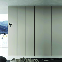 Hinged door wardrobe in wood essence Gola made in Italy at My Italian Living Ltd